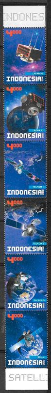 filatelia espacio Indonesia 2017