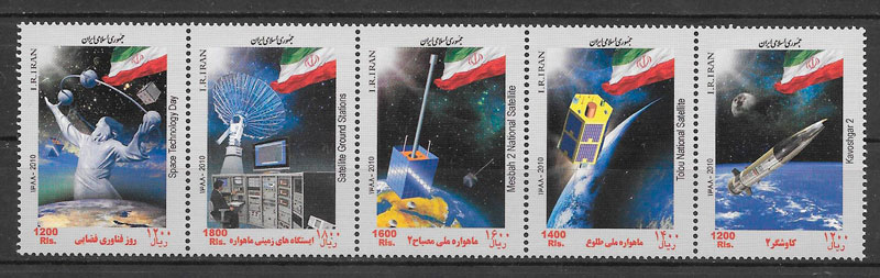filatelia espacio Irán 2010