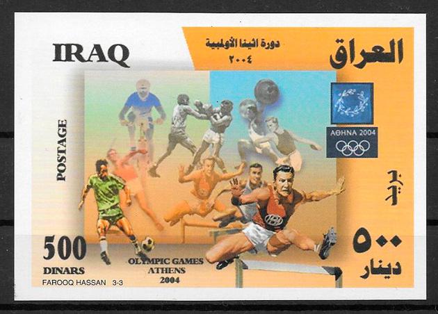 filatelia deporte Iraq 2006