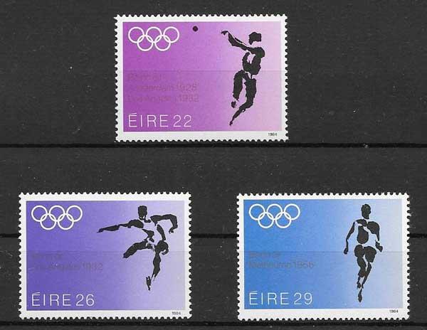 Colección sellos Juegos Olímpicos Irlanda 1984