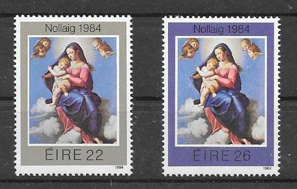 Filatelia navidad Irlanda 1984
