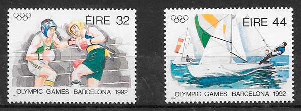 filatelia deporte Irlanda 1992
