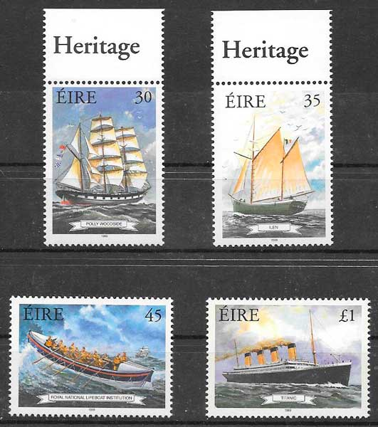 filatelia transporte Irlanda 1999