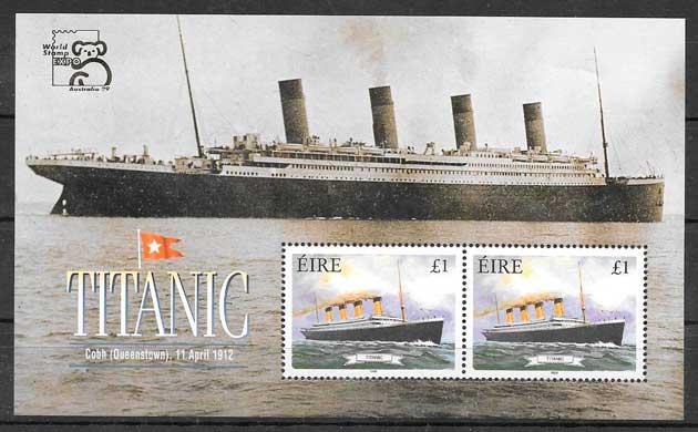 filatelia colección transporte Irlanda 1999