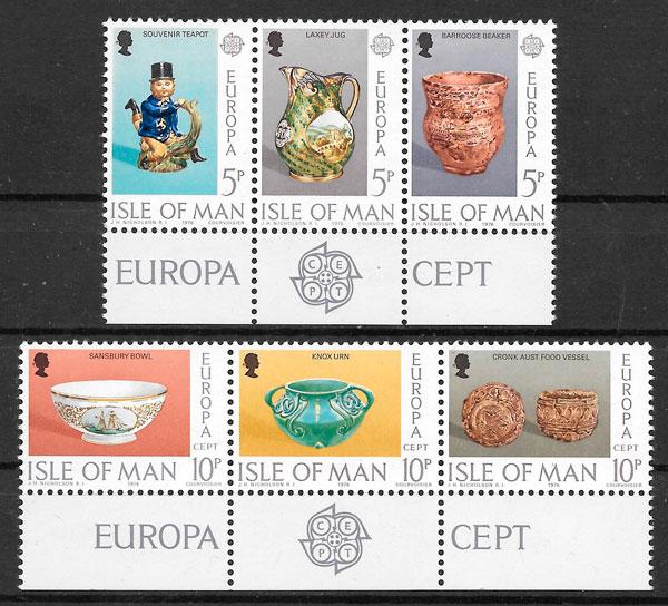 filatelia colección Europa Isla de Man 1976