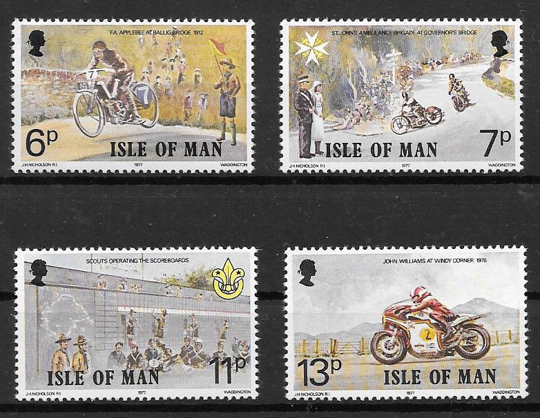 Filatelia transporte Isla de Man 1977