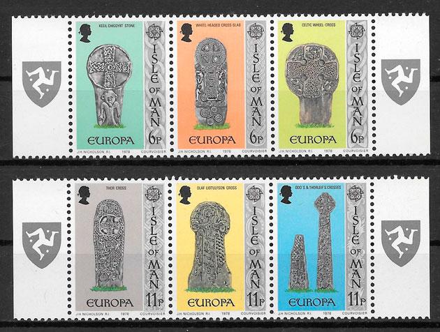 sellos Europa Isla de Man 1978