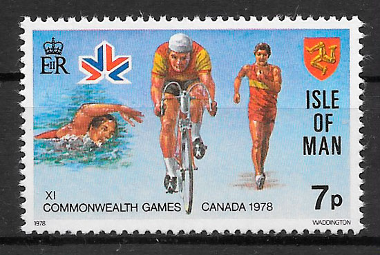 sellos deporte Isla de Man 1978