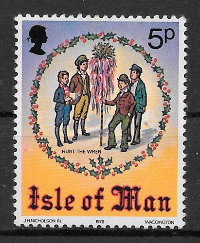 sellos navidad Isla de Man 1978