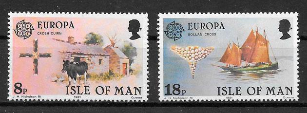 filatelia Europa Isla de Man 1981