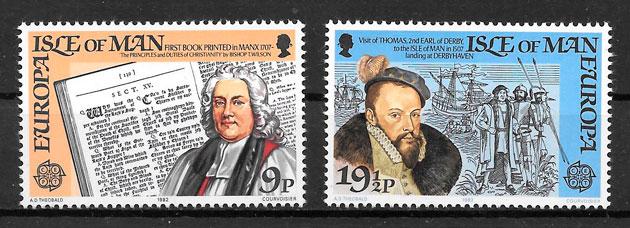 filatelia colección Europa Isla de Man 1982