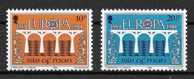 colección sellos Europa Isla de Man 1984