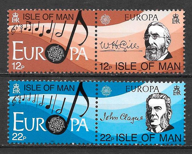 colección sellos Europa Isla de Man 1985