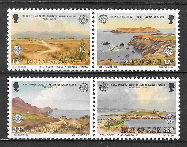 colección sellos Europa Isla de Man 1986
