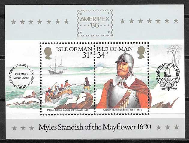 filatelia transporte Isla de Man 1986