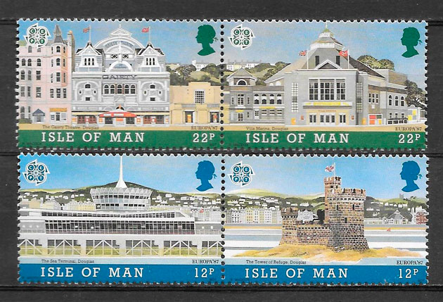 sellos Europa Isla de Man 1987