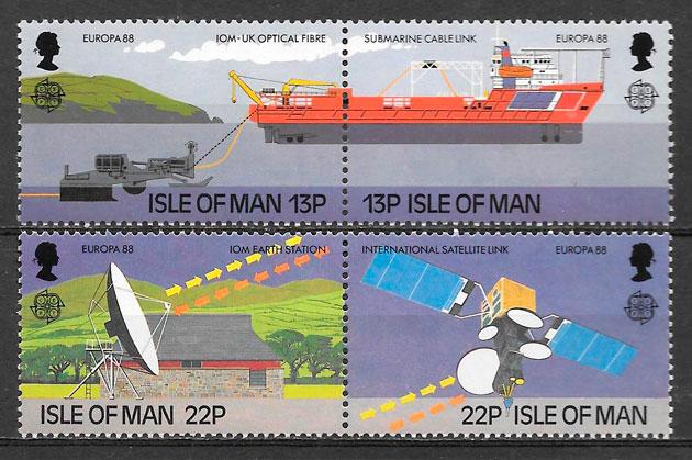sellos Europa Isla de Man 1988