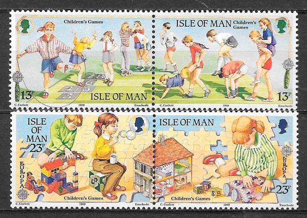 sellos Europa Isla de Man 1989