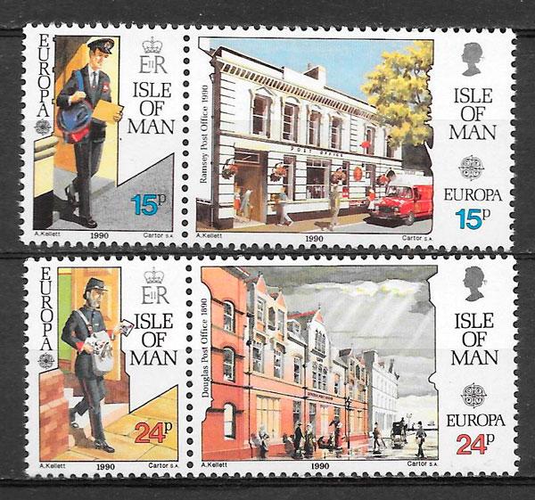 filatelia Europa Isla de Man 1990