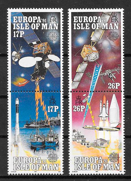 filatelia Europa Isla de Man 1991