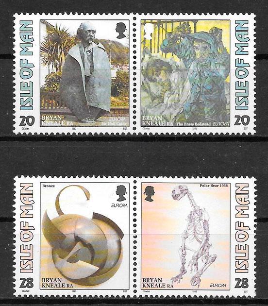 filatelia Europa Isla de Man 1993
