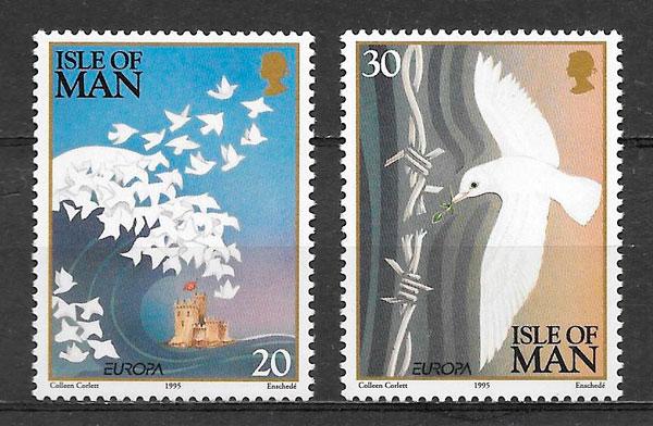 filatelia colección Europa Isla de Man 1995