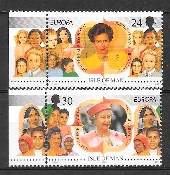 filatelia colección Europa Isla de Man 1996
