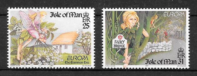 sellos Europa Isla de Man 1997