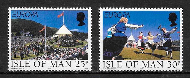 sellos Europa Isla de Man 1998
