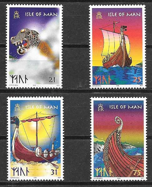 sellos barcos Isla de Man