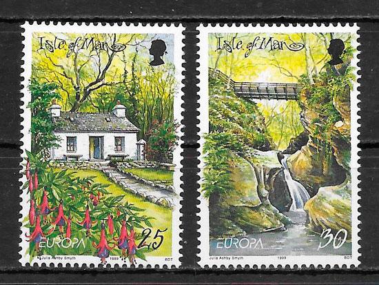sellos Europa Isla de Man 1999