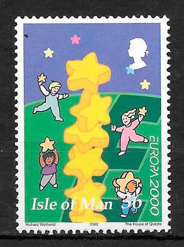 filatelia Europa Isla de Man 2000