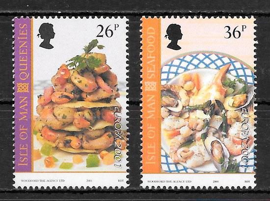filatelia Europa Isla de Man 2001