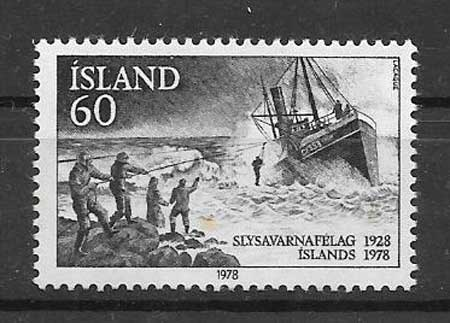 Filatelia Transporte marítimo Islandia 1978
