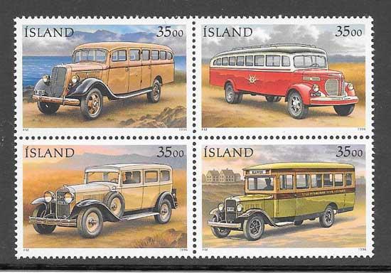 Sellos transporte postal Islandia 1996