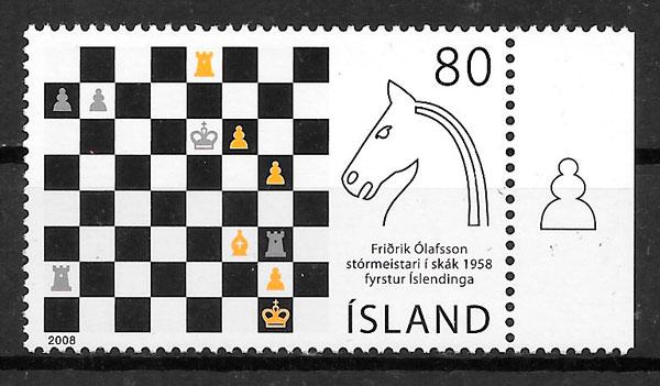 filatelia deporte Islandia 2008