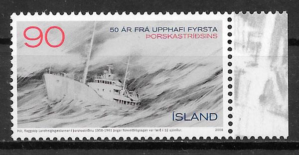 filatelia transporte Islandia 2008