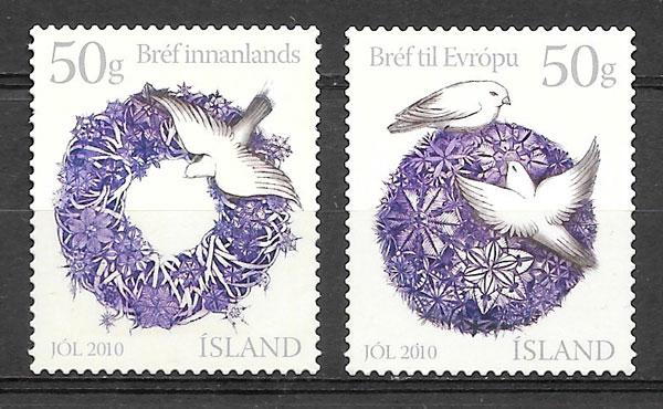 sellos navidad Isalandia 2010