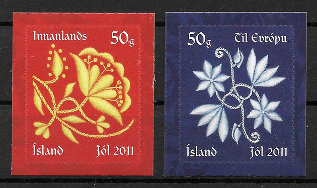 sellos navidad Islandia 2011