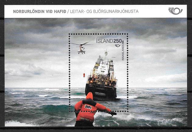 filatelia transporte Islandia 2012