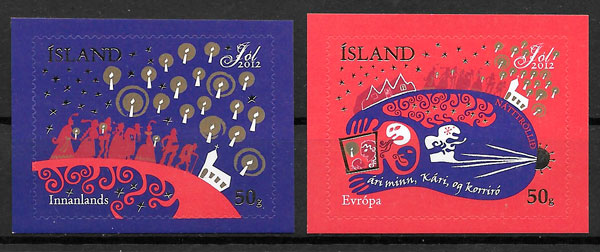 sellos navidad Islandia 2013