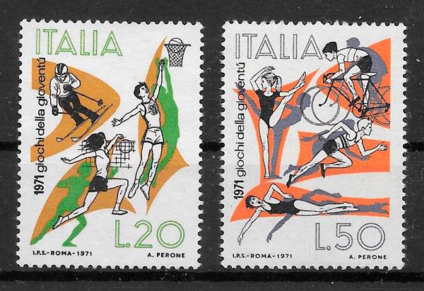 filatelia deporte Italia 1971