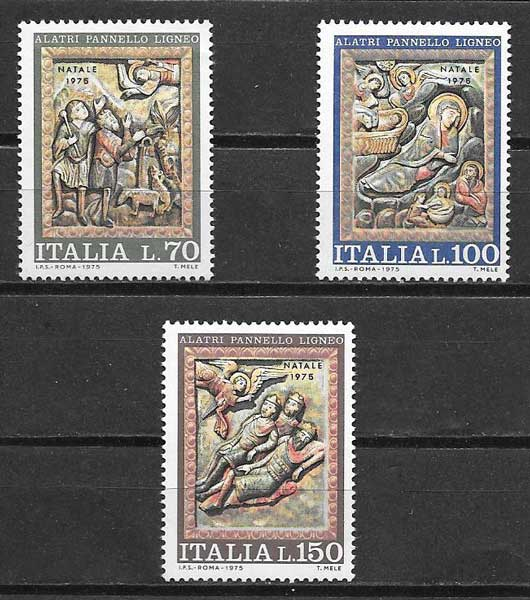 Filatelia navidad Italia 1975