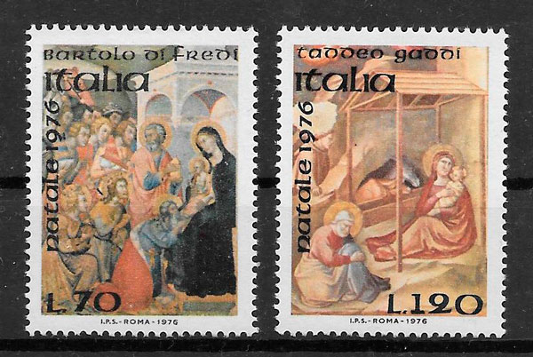 filatelia navidad 1976 Italia
