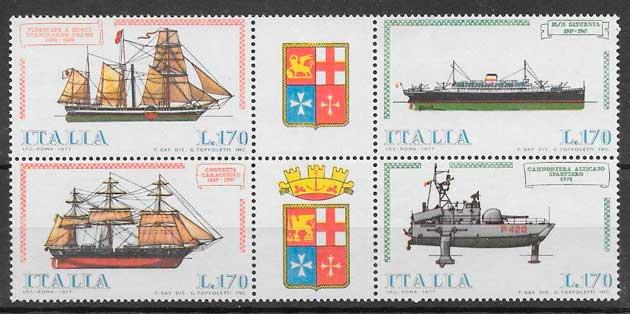 sellos transporte Italia 1977