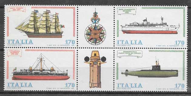 sellos filatelia transporte Italia 1979