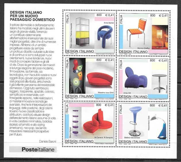 colección sellos arte Italia 2001