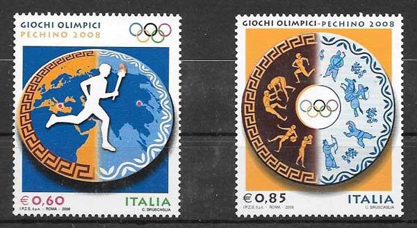 Estampillas olimpiadas Italia 2008