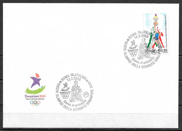 sellos deporte Italia 2010