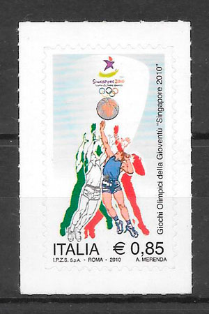 colección sellos Italia Deporte 2010